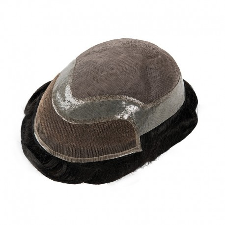 Felix Men's Toupee Hair Pieces   Durable Base with Lace in the Front   Thick Hair